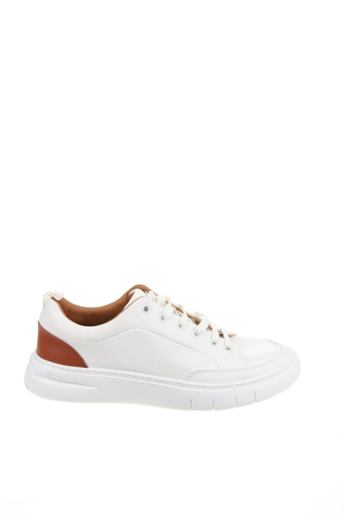 Мъжки обувки Zara, Размер 42, Цвят Бял, Еко кожа, Цена 59,25лв.