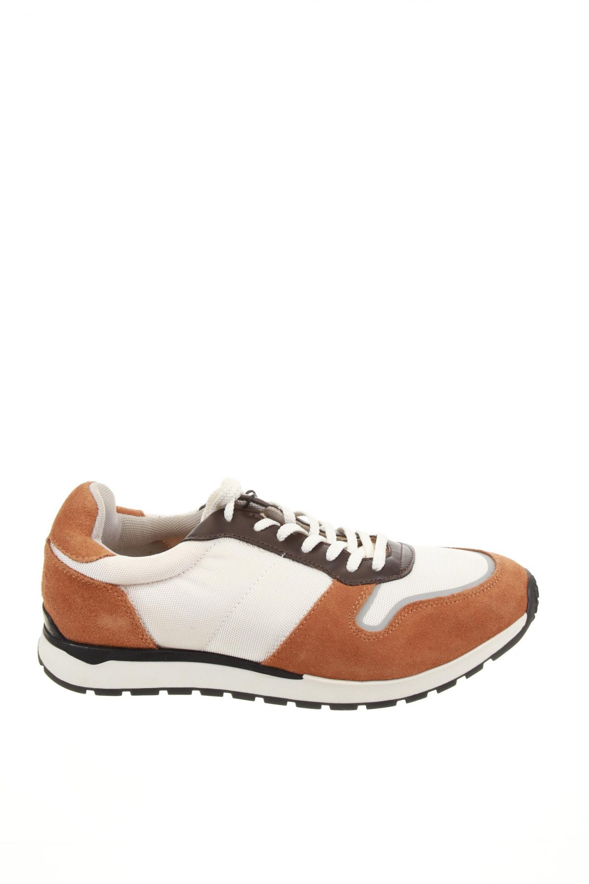Мъжки обувки Zara, Размер 42, Цвят Кафяв, Естествен велур, текстил, Цена 71,40лв.