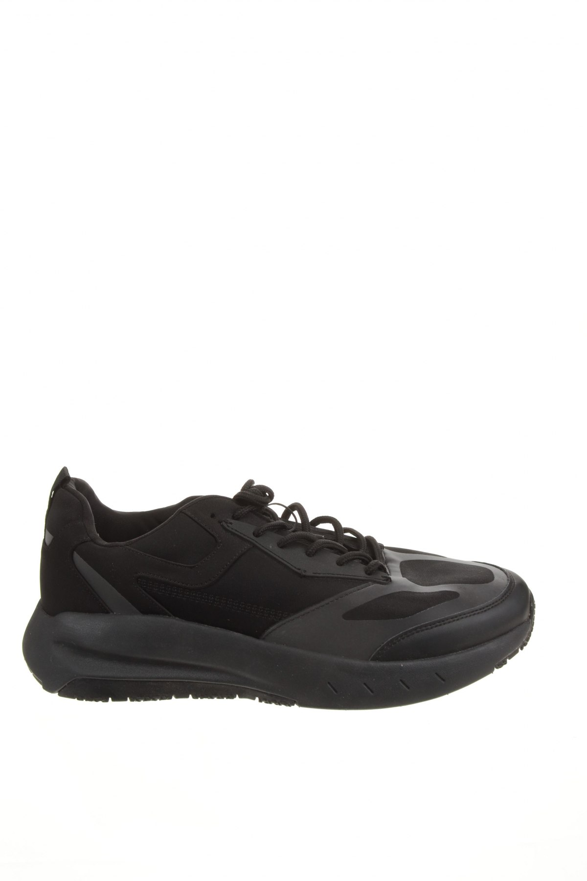 Мъжки обувки Zara, Размер 44, Цвят Черен, Текстил, полиуретан, Цена 31,15лв.