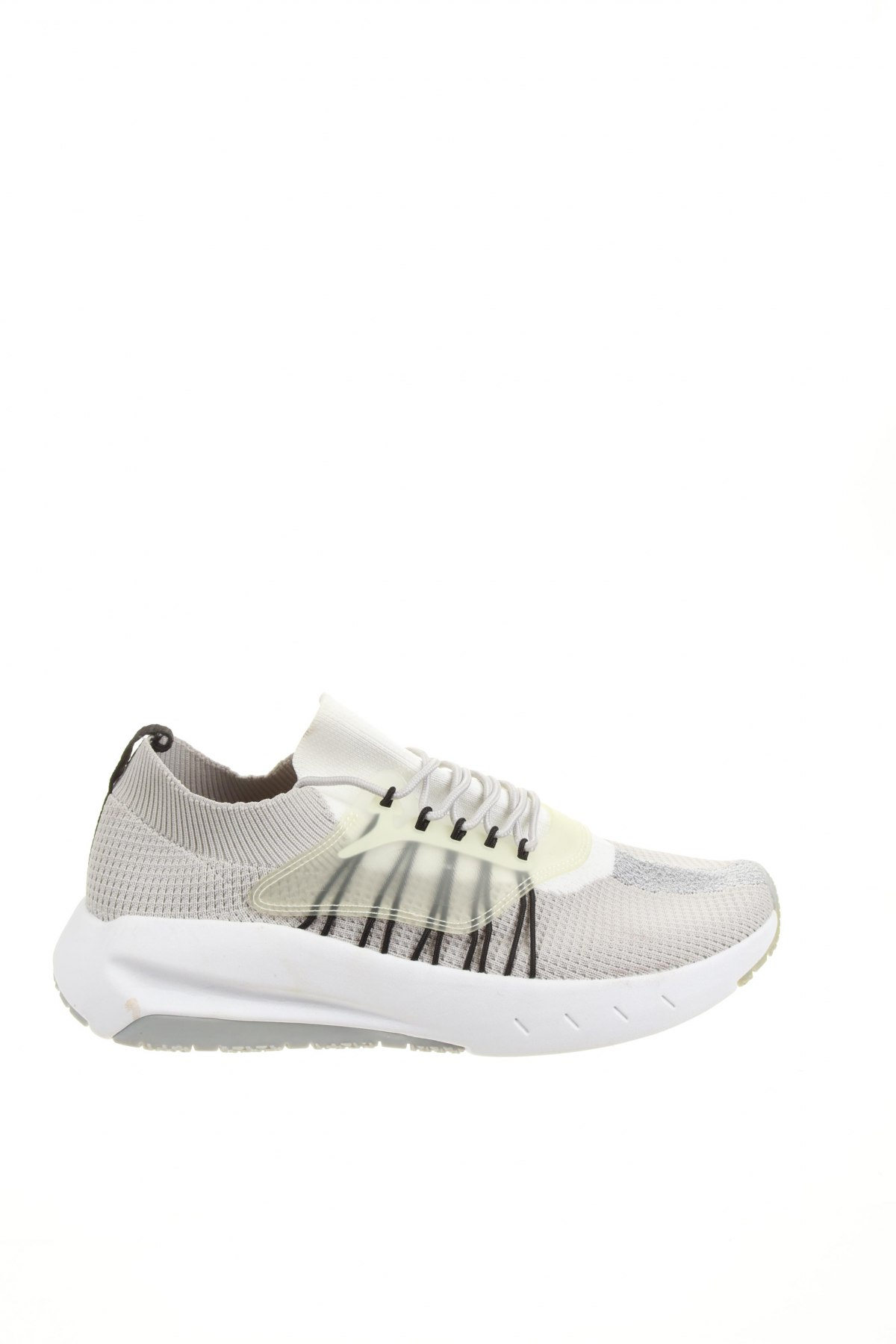 Мъжки обувки Zara, Размер 43, Цвят Сив, Текстил, полиуретан, Цена 47,40лв.