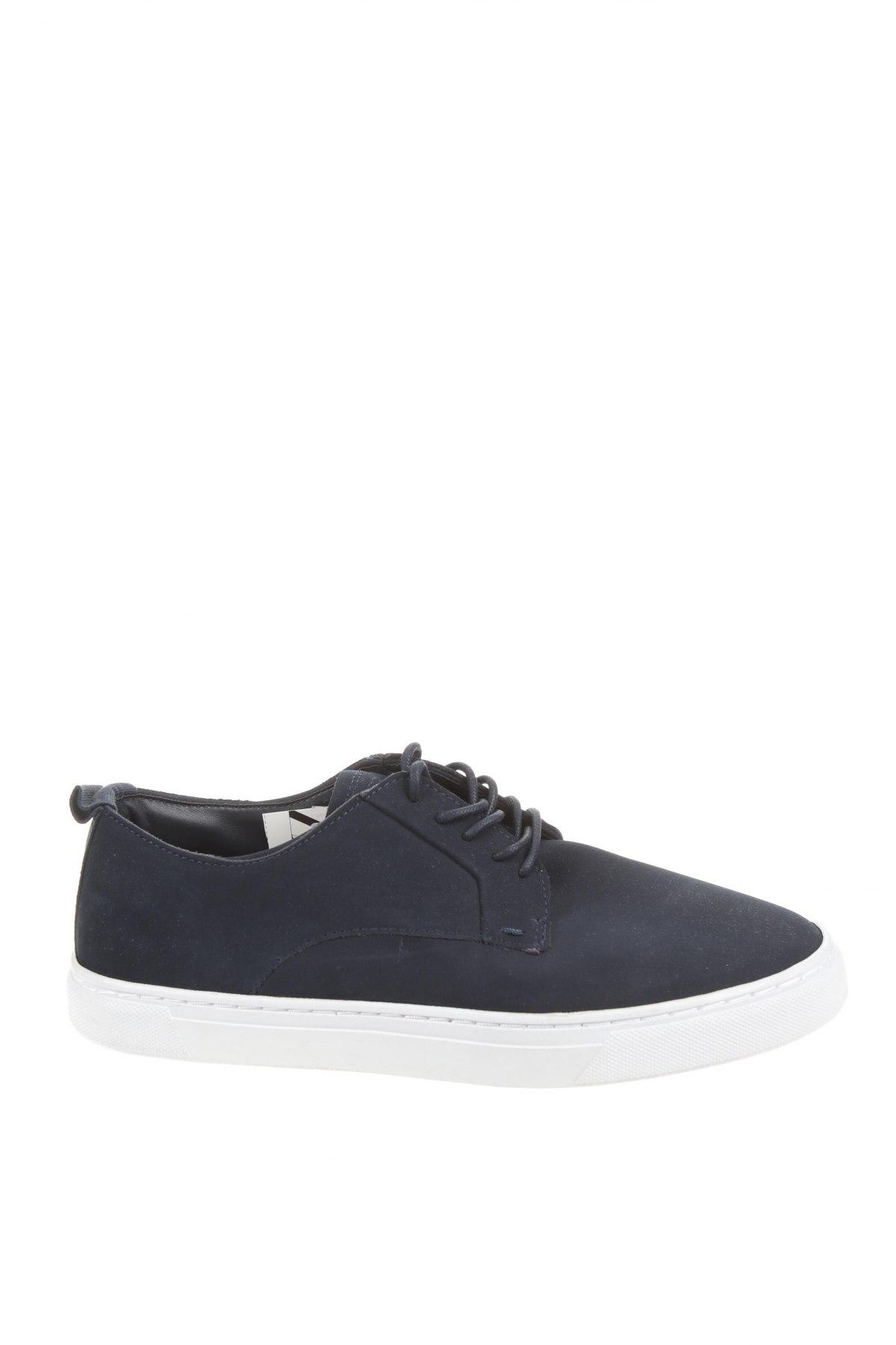 Мъжки обувки Zara, Размер 41, Цвят Син, Еко кожа, текстил, Цена 44,25лв.