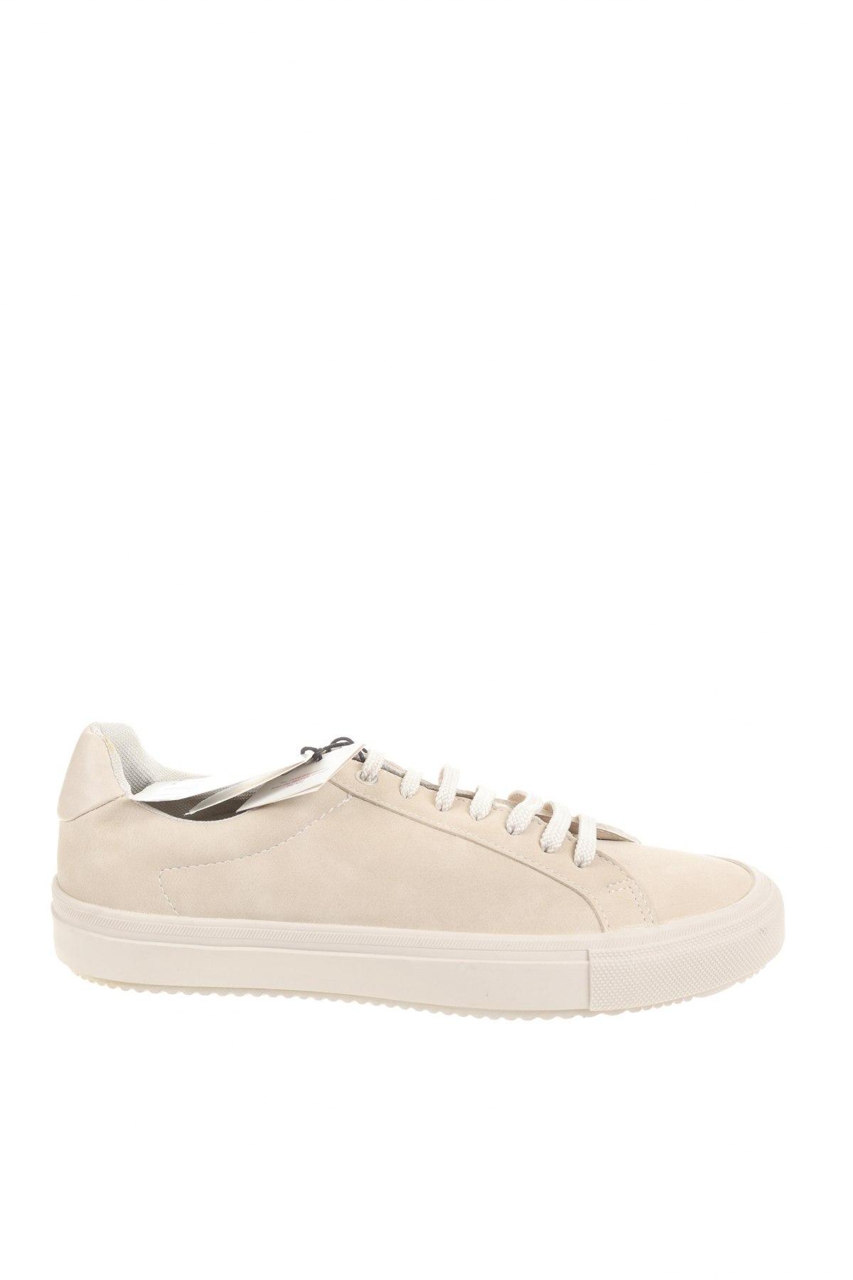 Мъжки обувки Zara, Размер 41, Цвят Бежов, Еко кожа, Цена 35,60лв.