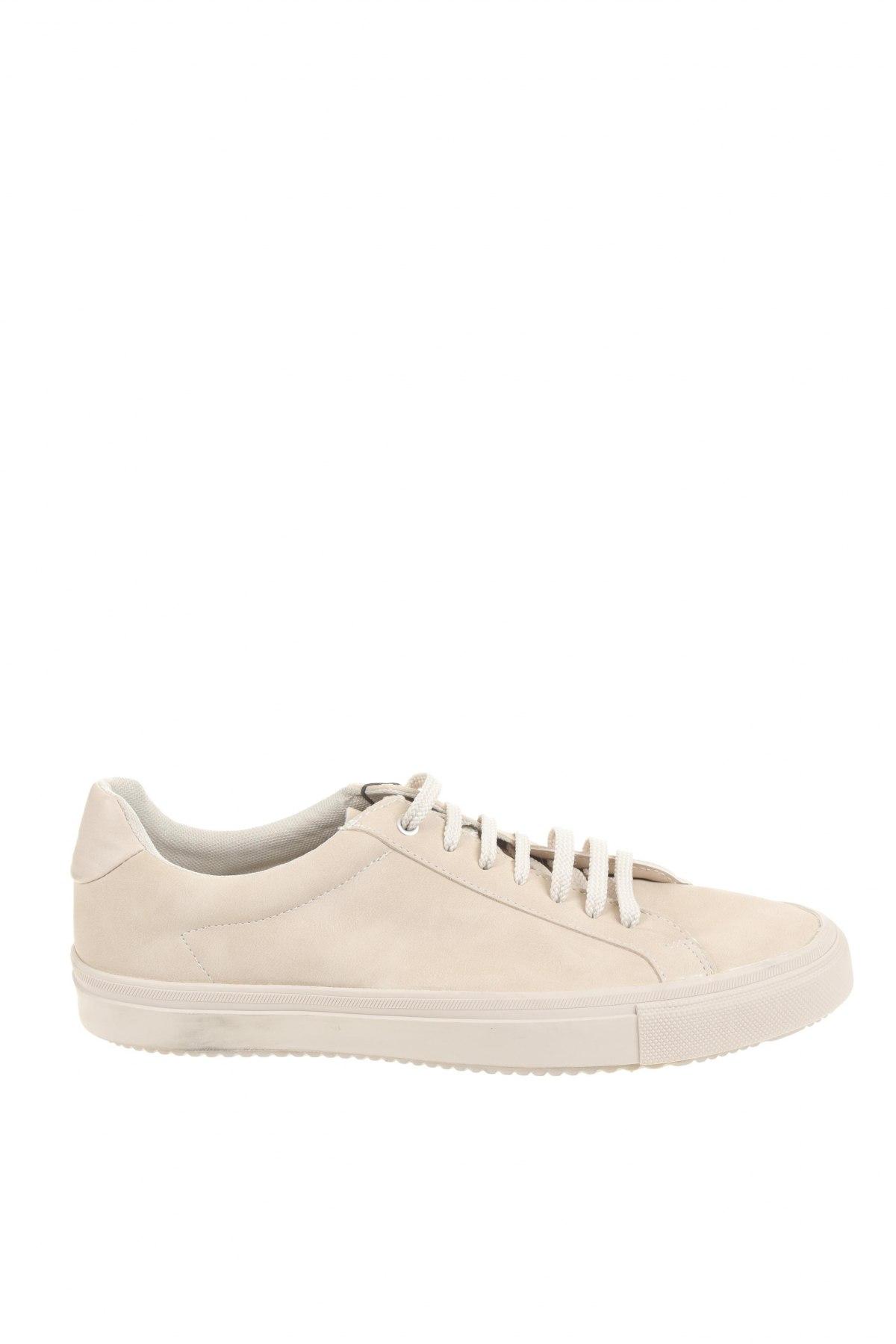 Мъжки обувки Zara, Размер 43, Цвят Бежов, Еко кожа, Цена 35,60лв.