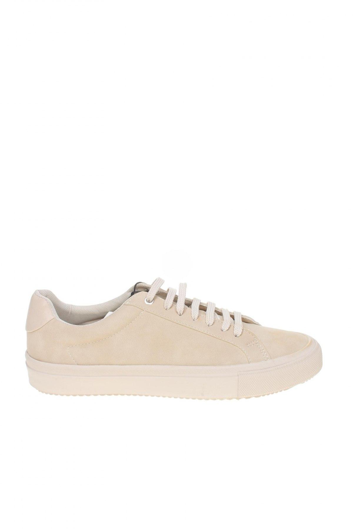 Мъжки обувки Zara, Размер 40, Цвят Бежов, Еко кожа, Цена 26,07лв.