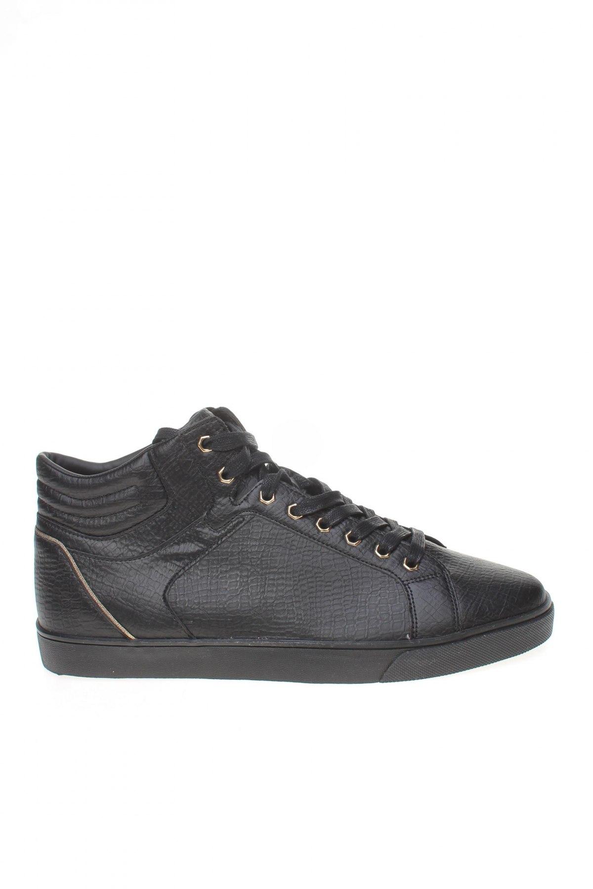 Мъжки обувки Zara Man, Размер 45, Цвят Черен, Еко кожа, Цена 35,60лв.