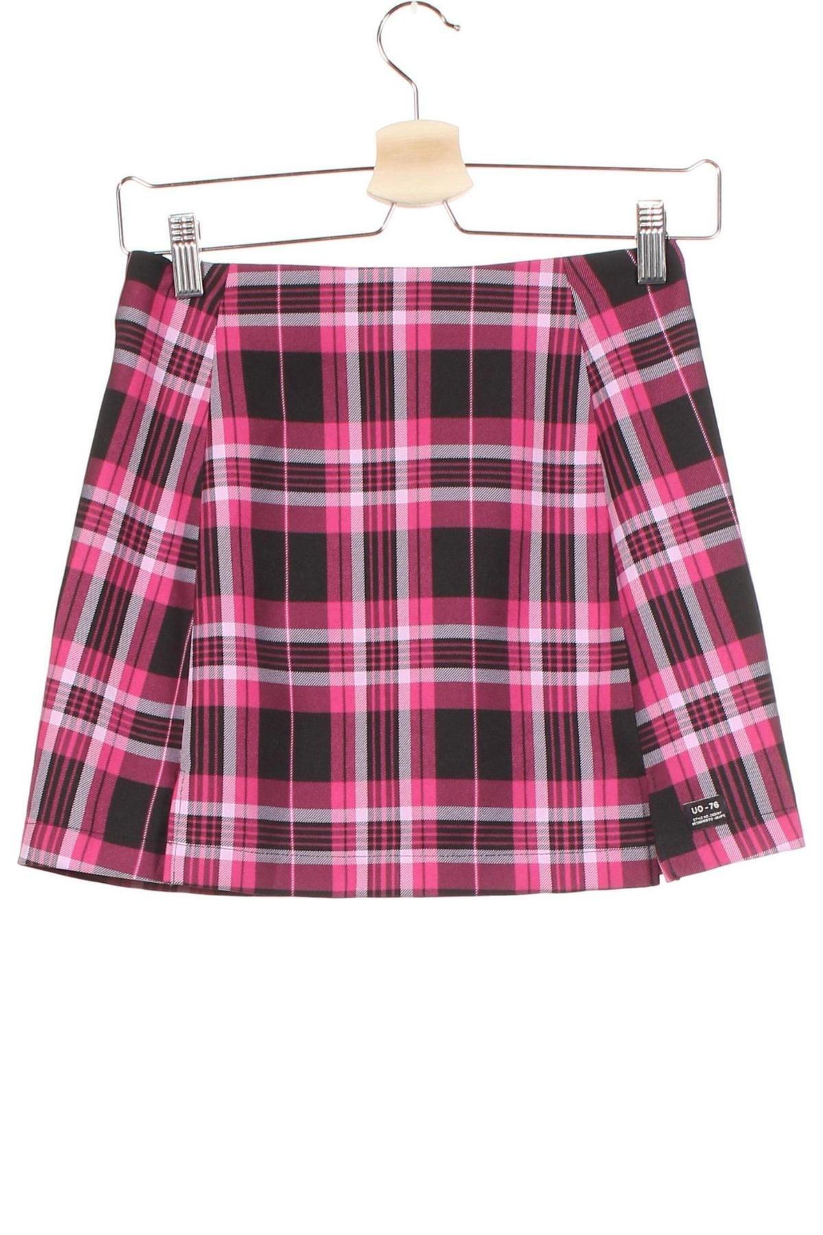 Пола Urban Outfitters, Размер XS, Цвят Розов, 99% полиестер, 1% вискоза, Цена 51,75лв.