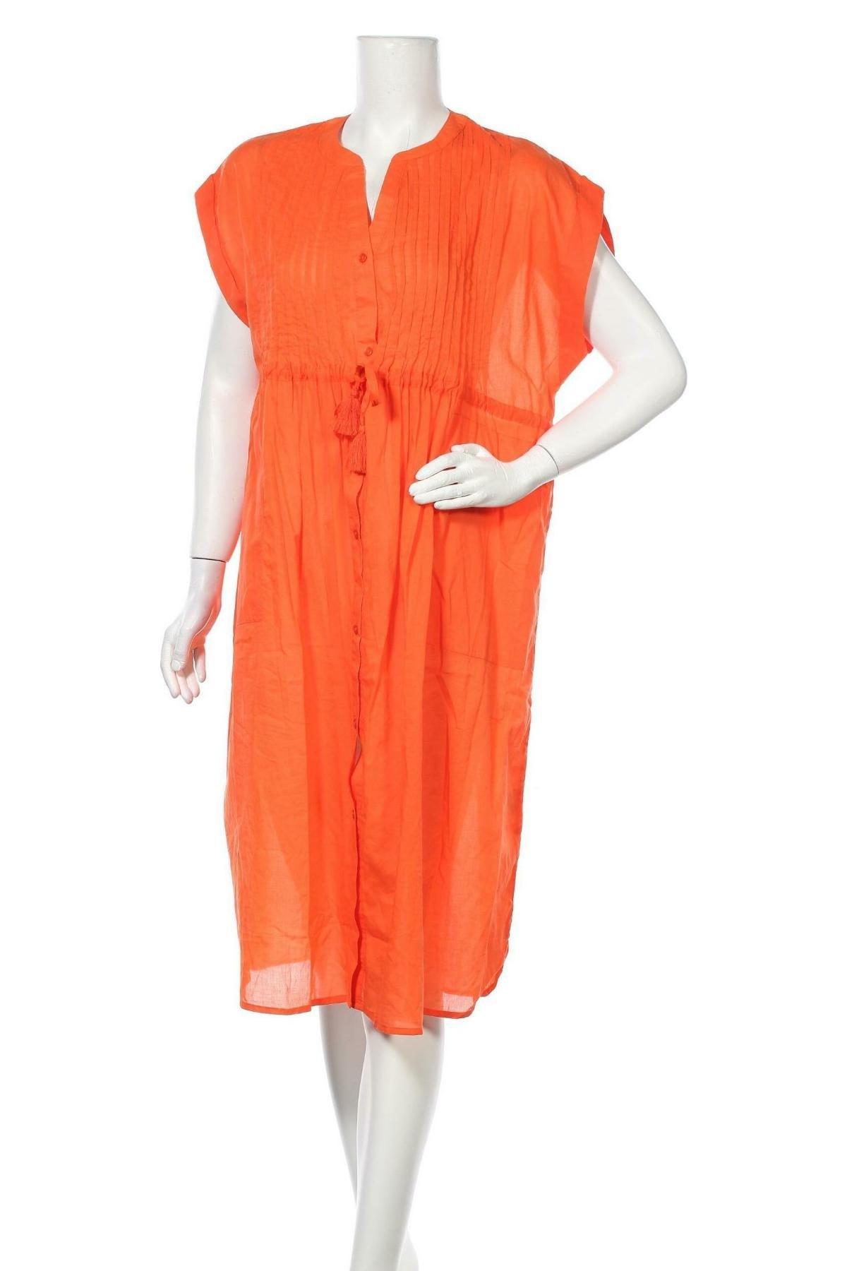 Рокля Culture, Размер M, Цвят Оранжев, Памук, Цена 74,25лв.
