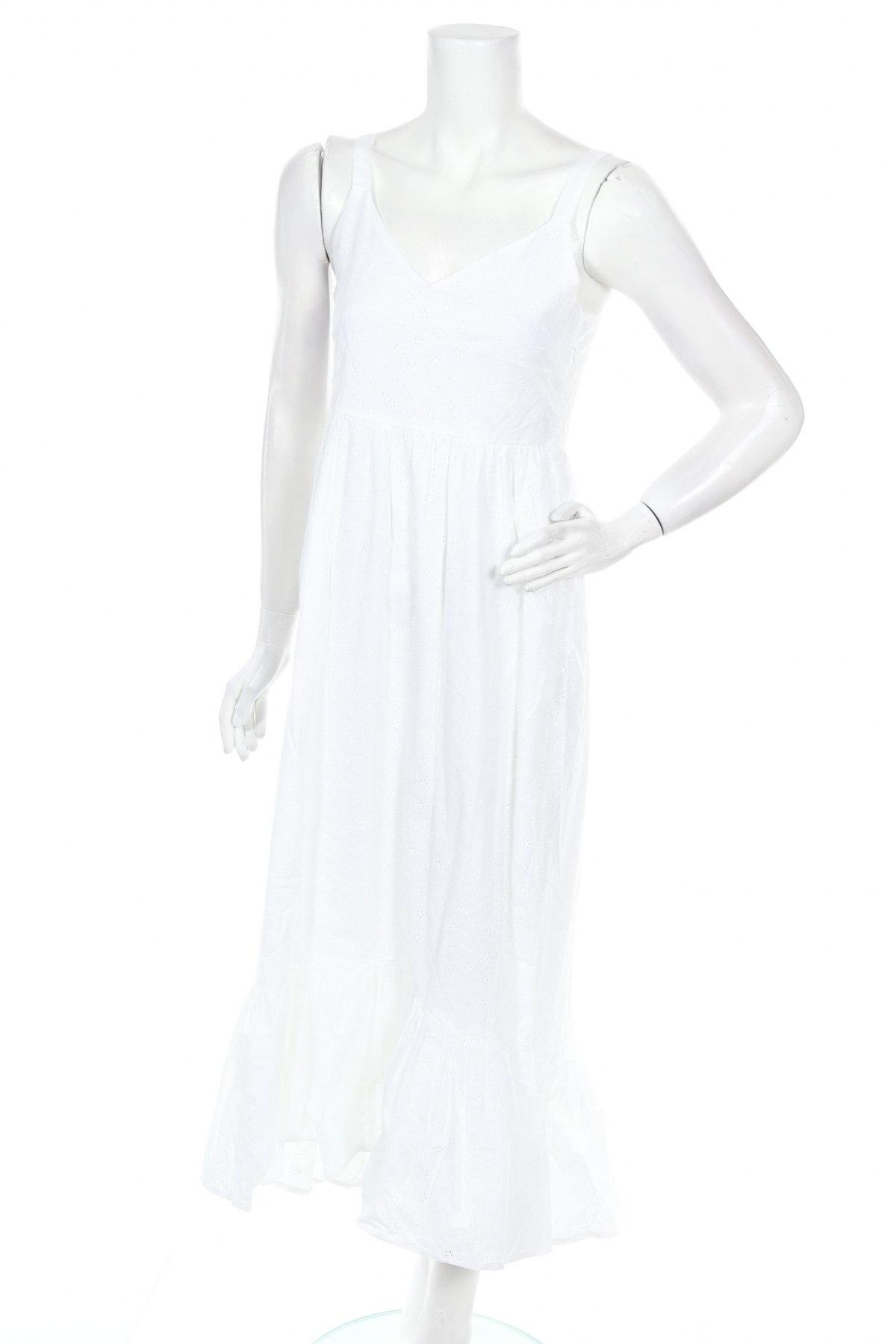 Рокля Culture, Размер M, Цвят Бял, Памук, Цена 74,25лв.
