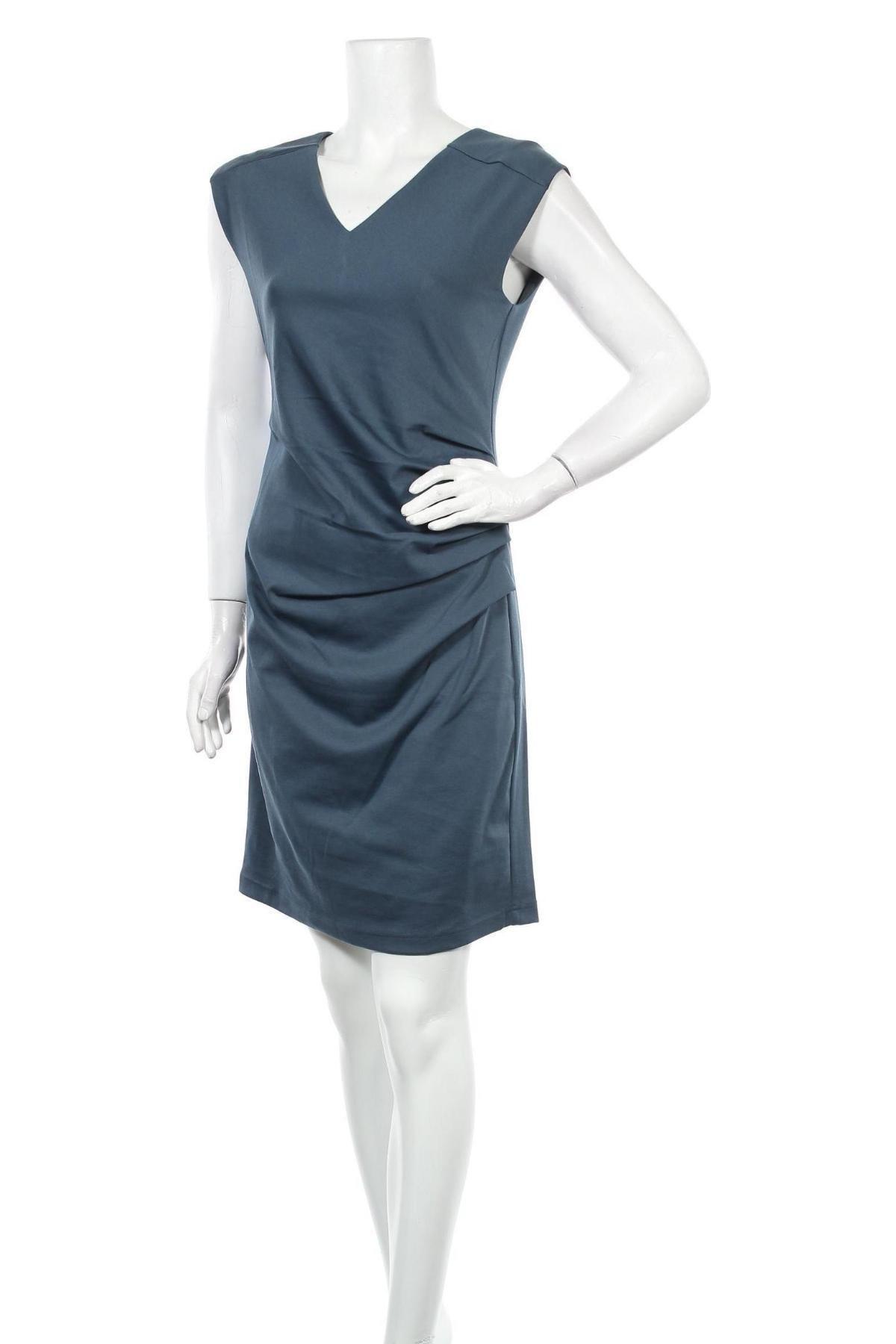 Φόρεμα Kaffe, Μέγεθος M, Χρώμα Μπλέ, 80% πολυεστέρας, 17% βισκόζη, 3% ελαστάνη, Τιμή 57,60€