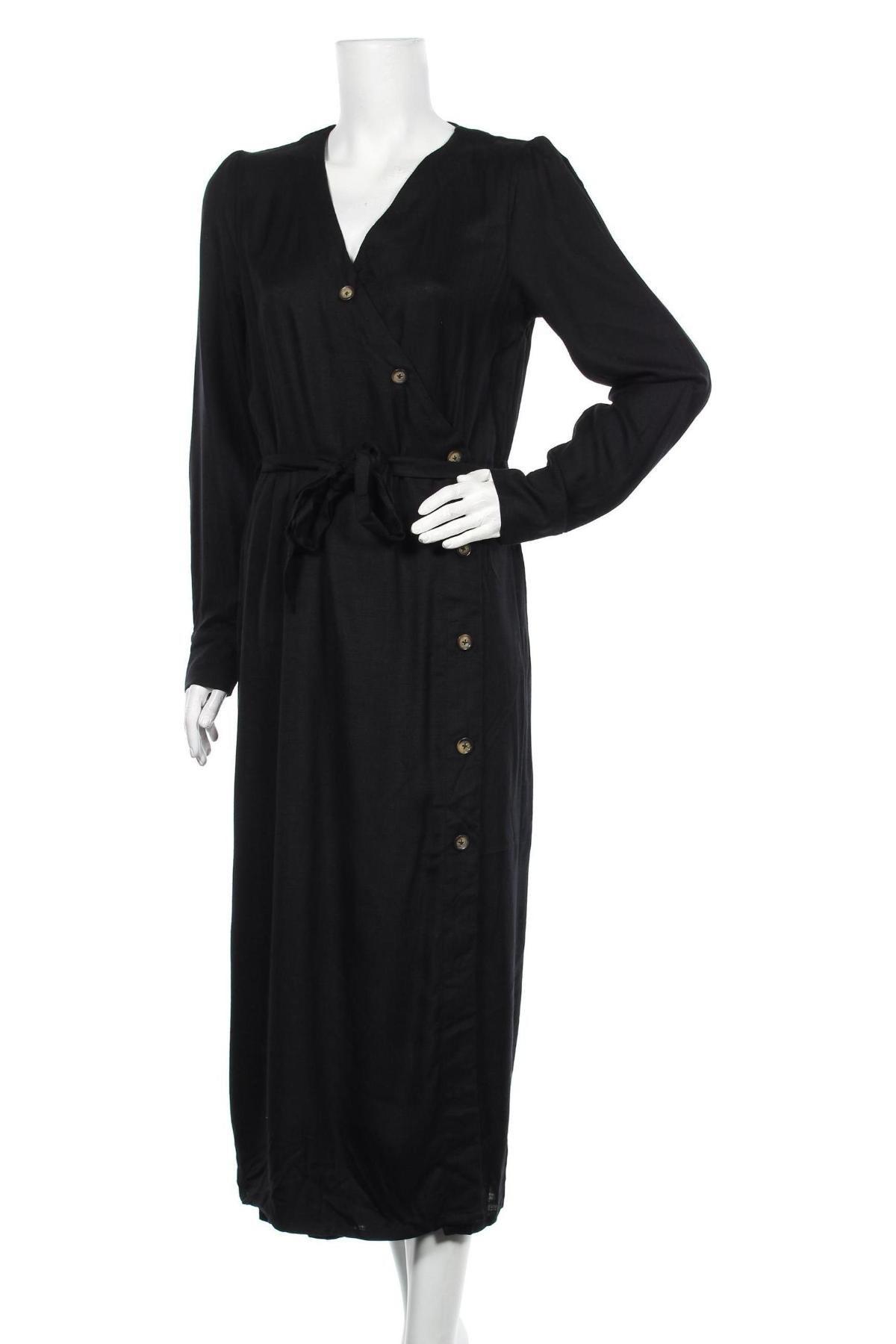 Φόρεμα Kaffe, Μέγεθος M, Χρώμα Μαύρο, Βισκόζη, Τιμή 53,74€