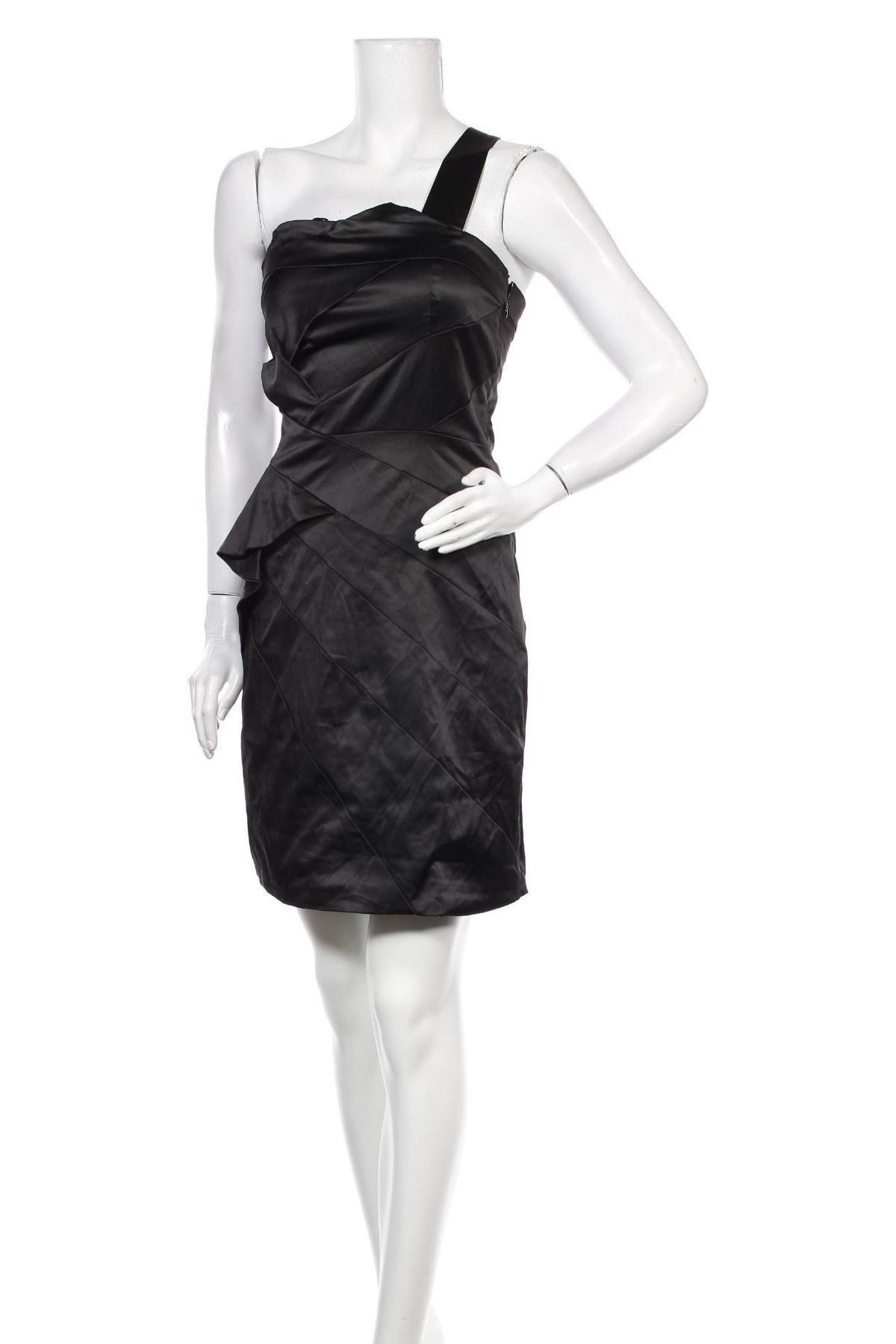 Рокля Max&Co., Размер S, Цвят Черен, 55% памук, 41% други нишки, 4% еластан, Цена 46,79лв.
