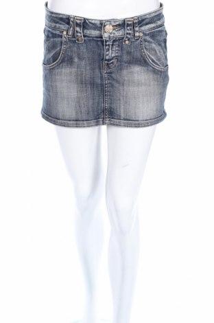 Пола Zara Trafaluc, Размер M, Цвят Син, 98% памук, 2% еластан, Цена 6,00лв.