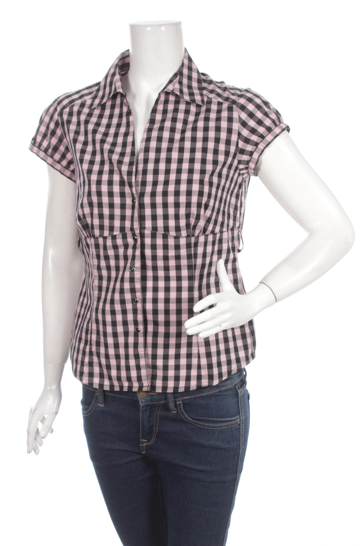 Γυναικείο πουκάμισο Avani, Μέγεθος M, Χρώμα Ρόζ , 69% βαμβάκι, 28% πολυεστέρας, 3% ελαστάνη, Τιμή 12,37€