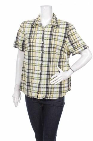 Γυναικείο πουκάμισο Alia, Μέγεθος L, Χρώμα Κίτρινο, 51% βαμβάκι, 48% πολυεστέρας, 1% ελαστάνη, Τιμή 2,97€