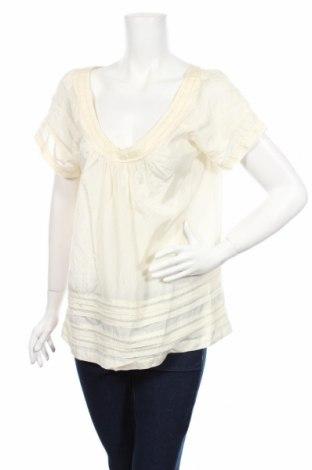 Дамска блуза American Eagle, Размер L, Цвят Екрю, 53% коприна, 47% памук, Цена 7,80лв.