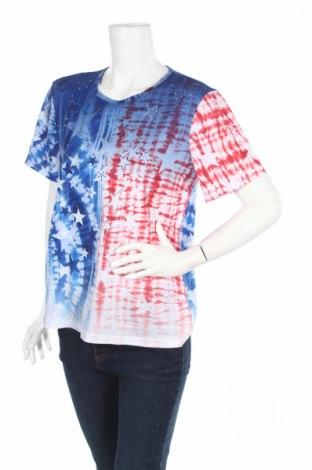 Дамска блуза Gloria Vanderbilt, Размер M, Цвят Многоцветен, 95% полиестер, 5% еластан, Цена 4,56лв.