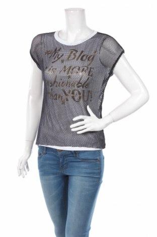 Дамска блуза Sandro Ferrone, Размер S, Цвят Черен, 95% вискоза, 5% еластан, Цена 9,27лв.