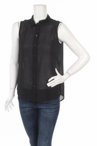 Дамска риза H&M, Размер M, Цвят Черен, Полиестер, Цена 7,15лв.