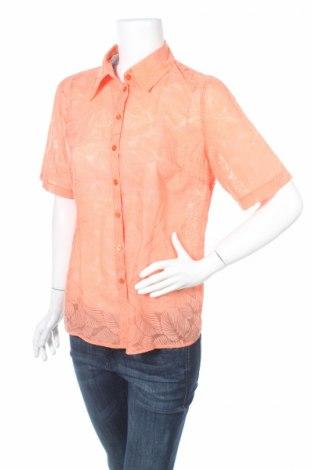 Дамска риза Jorg Peterson, Размер M, Цвят Оранжев, 58% памук, 42% полиестер, Цена 6,83лв.