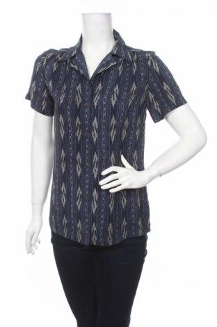 Дамска риза Linda Allard Ellen Tracy, Размер L, Цвят Син, Цена 12,35лв.