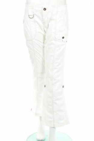 Дамски панталон Edc By Esprit, Размер M, Цвят Бял, 100% памук, Цена 8,05лв.