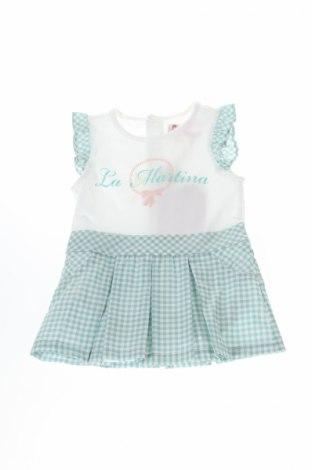 Detské šaty  La Martina, Veľkosť 2-3m/ 56-62 cm, Farba Zelená, 97% bavlna, 3% elastan, Cena  29,07€