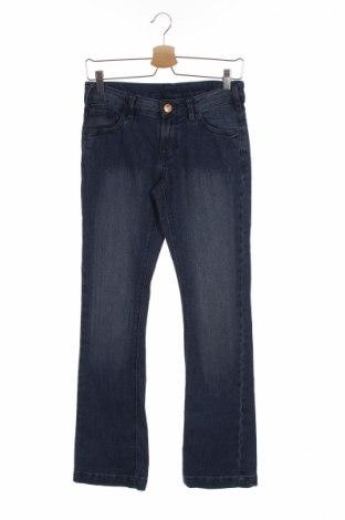 Dziecięce jeansy Here+There, Rozmiar 14-15y/ 168-170 cm, Kolor Niebieski, 77% bawełna, 22% poliester, 1% elastyna, Cena 20,00zł