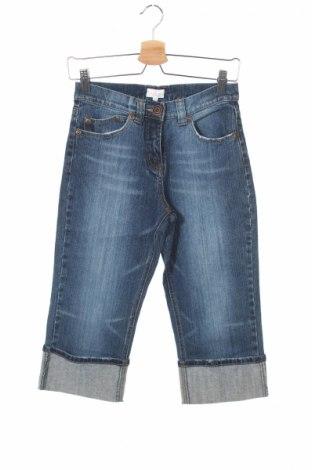 Детски дънки Naf Naf, Размер 12-13y/ 158-164 см, Цвят Син, 99% памук, 1% еластан, Цена 13,65лв.