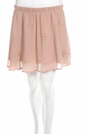 Φούστα H&M Divided, Μέγεθος M, Χρώμα  Μπέζ, Πολυεστέρας, Τιμή 2,94€