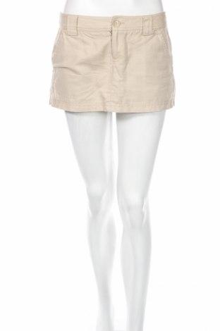 Φούστα Xxi, Μέγεθος S, Χρώμα  Μπέζ, 52% λινό, 48% βαμβάκι, Τιμή 4,48€