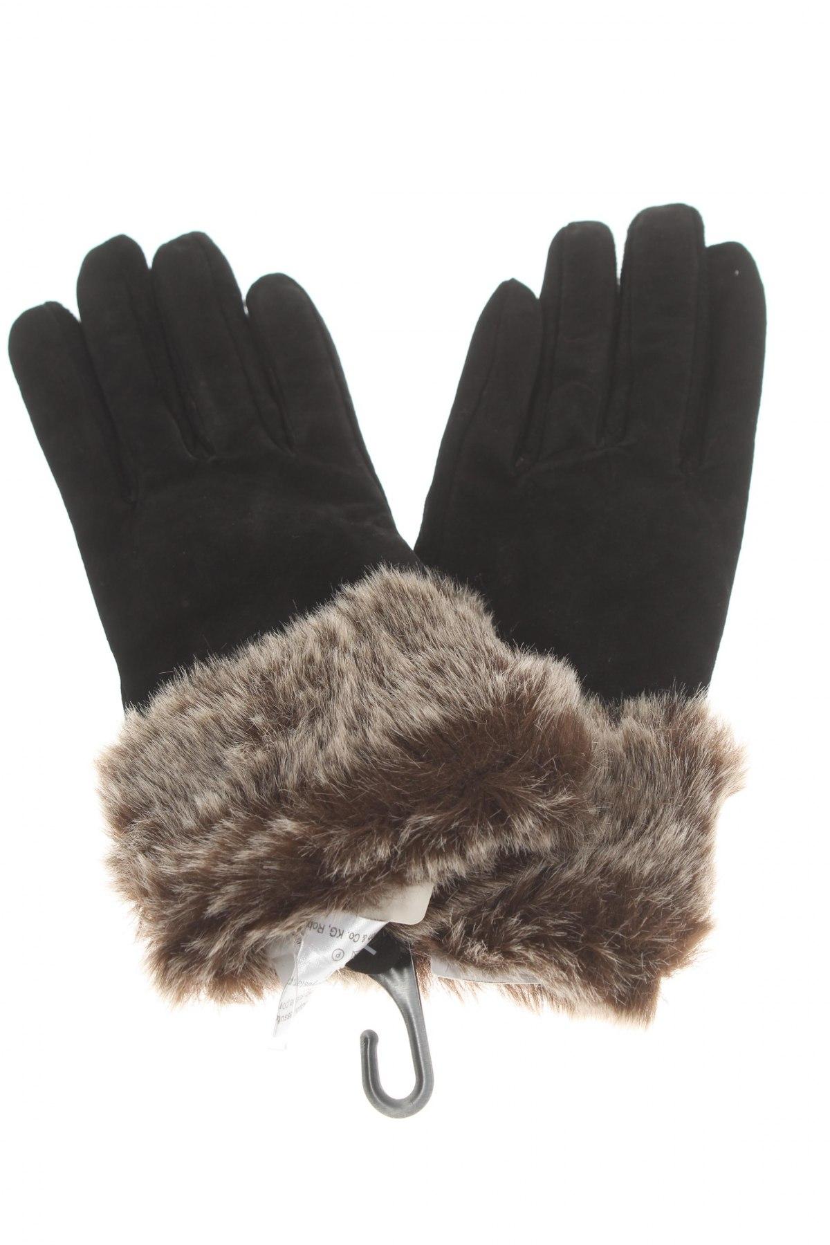 Ръкавици, Цвят Черен, Естествен велур, Цена 13,50лв.