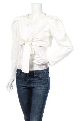 Bolero  Boohoo, Veľkosť L, Farba Biela, 97% polyester, 3% elastan, Cena  11,87€