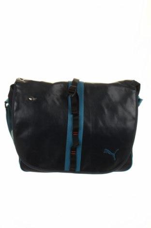 Τσάντα PUMA, Χρώμα Μπλέ, Δερματίνη, κλωστοϋφαντουργικά προϊόντα, Τιμή 17,93€