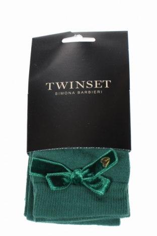 Ponožky Twinset, Rozměr L, Barva Zelená, 85% bavlna, 12% polyamide, 3% elastan, Cena  1035,00Kč