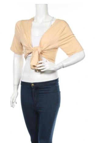 Γυναικεία μπλούζα Pieces, Μέγεθος M, Χρώμα  Μπέζ, 95% βισκόζη, 5% ελαστάνη, Τιμή 5,83€