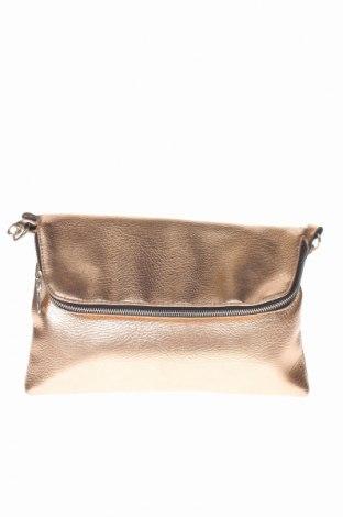 Γυναικεία τσάντα, Χρώμα Χρυσαφί, Δερματίνη, Τιμή 12,27€