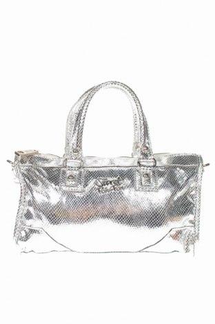 Γυναικεία τσάντα Secret Pon - Pon, Χρώμα Ασημί, Δερματίνη, Τιμή 24,12€