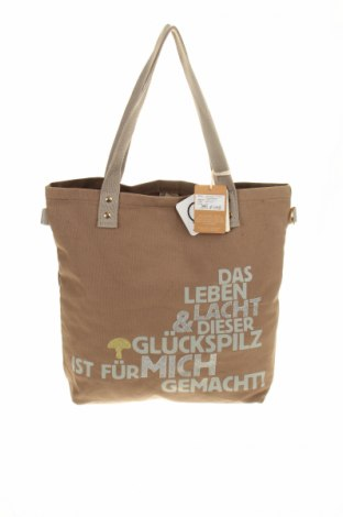 Дамска чанта Adelheid, Цвят Кафяв, Текстил, Цена 19,94лв.