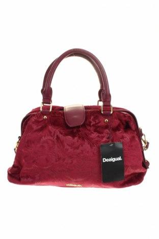 Γυναικεία τσάντα Desigual, Χρώμα Βιολετί, Δερματίνη, κλωστοϋφαντουργικά προϊόντα, Τιμή 47,54€