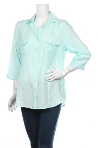 Дамска риза Andrea, Размер L, Цвят Син, 65% памук, 35% полиамид, Цена 3,19лв.