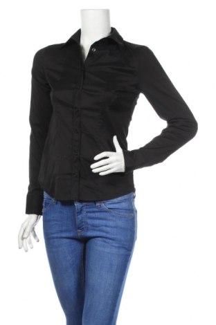 Γυναικείο πουκάμισο Armani Exchange, Μέγεθος S, Χρώμα Μαύρο, 70% βαμβάκι, 26% πολυαμίδη, 4% ελαστάνη, Τιμή 58,56€