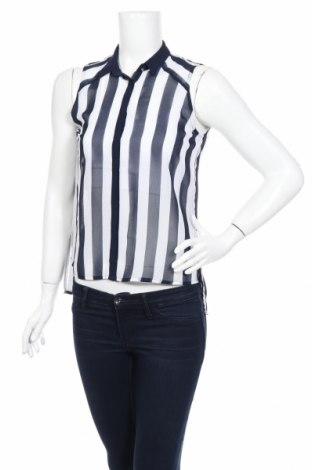 Дамска риза Bershka, Размер S, Цвят Бял, Полиестер, Цена 7,48лв.