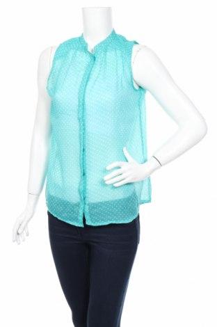 Дамска риза Zara Trafaluc, Размер S, Цвят Зелен, Полиестер, Цена 5,25лв.