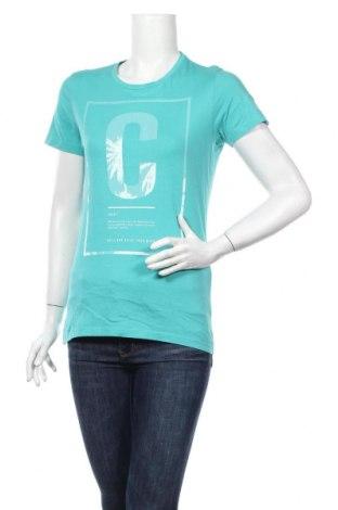 Дамска тениска Q/S by S.Oliver, Размер S, Цвят Зелен, Памук, Цена 20,88лв.