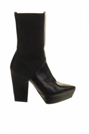 Γυναικεία μποτάκια Jil Sander, Μέγεθος 38, Χρώμα Μαύρο, Γνήσιο δέρμα, κλωστοϋφαντουργικά προϊόντα, Τιμή 163,38€