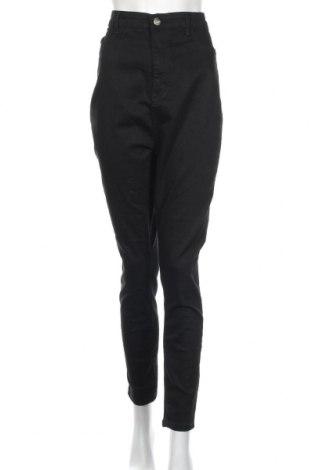 Damskie jeansy Boohoo, Rozmiar XXL, Kolor Czarny, 78% bawełna, 20% poliester, 2% elastyna, Cena 83,30zł