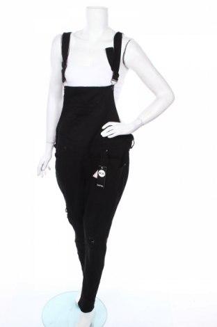 Γυναικεία τζίν σαλοπέτα Boohoo, Μέγεθος XL, Χρώμα Μαύρο, 65% βαμβάκι, 33% πολυεστέρας, 2% ελαστάνη, Τιμή 26,73€
