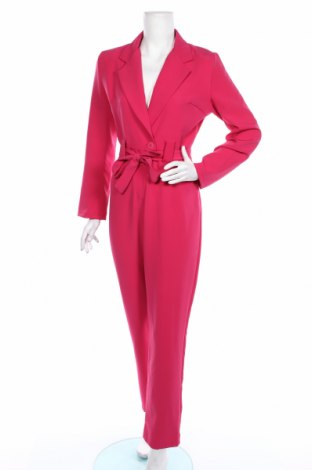 Dámsky overal Boohoo, Veľkosť M, Farba Ružová, 95% polyester, 5% elastan, Cena  24,74€