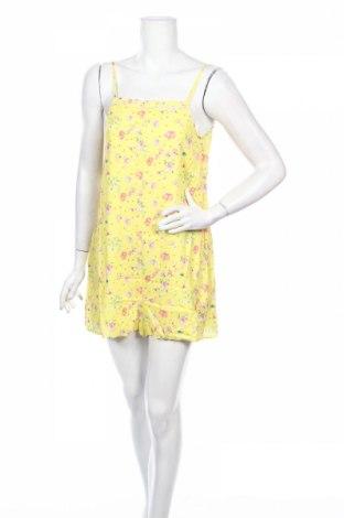 Дамски гащеризон Mango, Размер XS, Цвят Жълт, Вискоза, Цена 44,25лв.