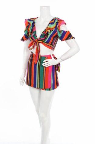 Дамски комплект Boohoo, Размер XS, Цвят Многоцветен, Полиестер, Цена 12,60лв.